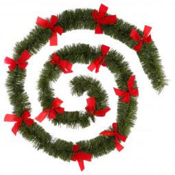 Guirlande de Noël Verte large 10 cm avec déco Longueur 270 cm Les incontournables