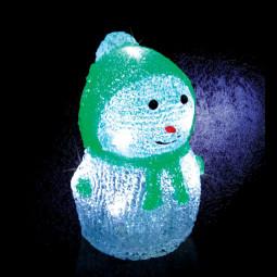 Décoration lumineuse Bonhomme de neige 8 LED H 16.5 cm