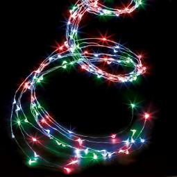 Guirlande lumineuse d'extérieur Copper Cascade 400 LED sur 2.50 mètres
