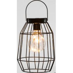 Lanterne lumineuse en métal filaire Noir H 17 cm Un Noël kinfolk