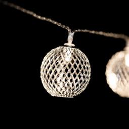 Guirlande lumineuse d'intérieur 10 Boules LED sur 1.35 mètres