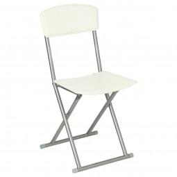 Chaise pliante PVC crème