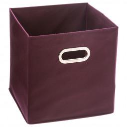 Boîte de rangement aubergine 31X31