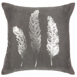 Coussin plume gold silver 40X40