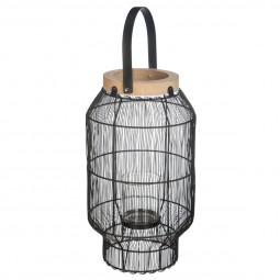 Lanterne métal fil etnik H31,5