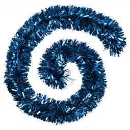 Guirlande de Noël Boa large 15 cm Bleu Longueur 200 cm La maison des couleurs