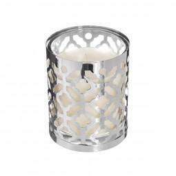 Bougie parfumée Pot en verre et métal ajouré H 10 cm  collection Esmée