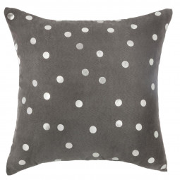 Coussin pois gold silver 40X40