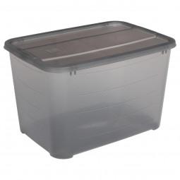 Box de rangement avec couvercle gris Store N' box 19L