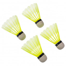 Lot de 4 volants badminton