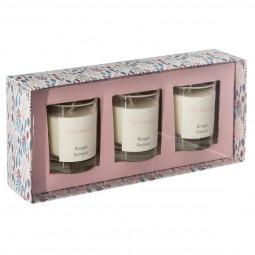 Lot de 3 bougies verre parfumées 45G