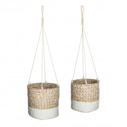 Lot de 2 caches pot seagrasse etnik