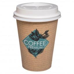 Lot de 6 Gobelets carton 38CL + couvercles côté café
