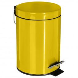 Poubelle moutarde en métal 3L