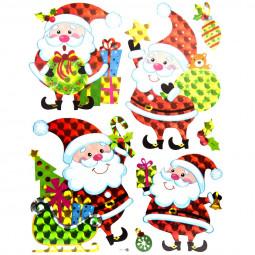 Stickers de Noël laser  27.5 x 35 cm Noël et compagnie