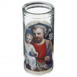 Bougie parfumée Pot en verre décor spirituel H 14 cm 140G