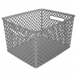 Panier multi usage rectangle gris