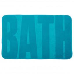 Tapis motif bath bleu 50X80