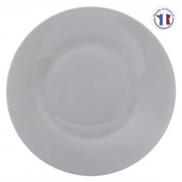Assiette plate opale mathilde gris D28
