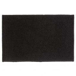 Tapis uni noir 40x60 cm