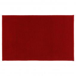 Tapis uni rouge 50x80 cm