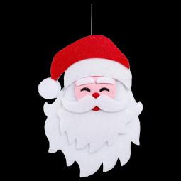 Décoration de noël Tête de Père Noël pailletée à suspendre H 37 cm Les incontournables