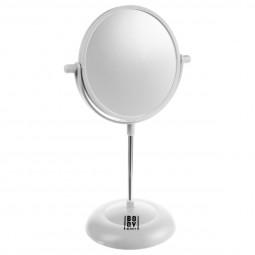 Miroir sur pied PVC blanc