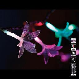 Guirlande lumineuse d'intérieur 20 Fleurs LED à variation de couleur sur 1.90 mètres