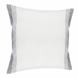 Coussin gris 100% lin 40 x 40 cm