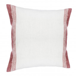 Coussin rouge 100% lin 40X40