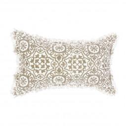 Coussin arabesque lin en lin 30X50