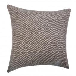 Coussin déhoussable jacquard chenille géométrique 40 x 40 cm coloris Gris
