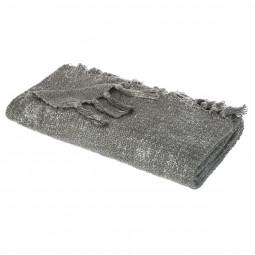 Plaid côtelé gris/argent 125x150 cm