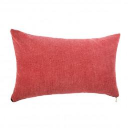 Coussin rouge zippé 30 x 50 cm