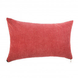 Coussin rouge zippé 30X50