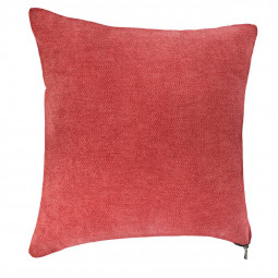 Coussin rouge zippé 40 x 40 cm