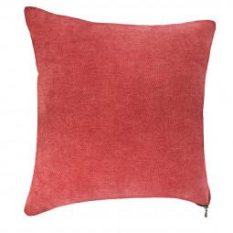 Coussin rouge zippé 40X40