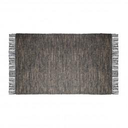 Tapis jute coton gris 70X140