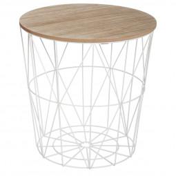Table de café blanche métal Kumi