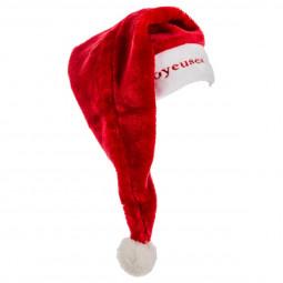 Bonnet de Noël velours avec broderie Joyeuses fêtes pour Adulte taille unique Les incontournables