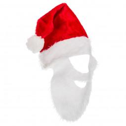 Bonnet de Noël avec barbe pour Adulte taille unique Les incontournables