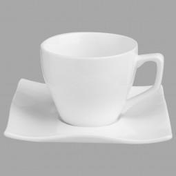 Tasse à café + soucoupe onde 11CL