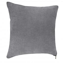 Coussin gris zippé 40x40