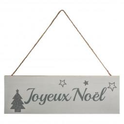 Décoration de Noël Pancarte  en bois joyeux noël à suspendre 30 x 10 cm collection Lodge