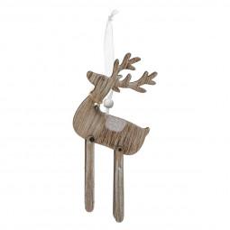 Décoration Sujet de Noël Animal articulé en bois H 13.5 cm collection Dis Maman