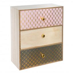 Boîte 3 tiroirs Modern 1920
