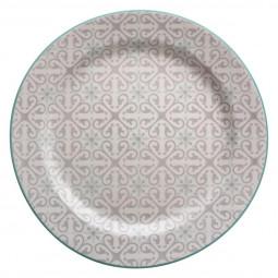 Assiette plate analisa vert menthe d27