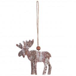 Décoration Sujet de Noël Forme en écorce de bois 6 cm A l'orée des bois
