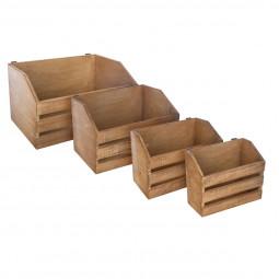Lot de 4 Cagettes pour étagère