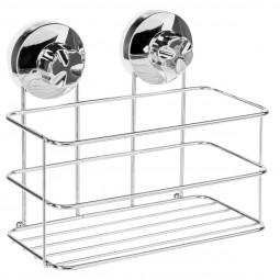 Etagére métal de salle de bain à ventouse